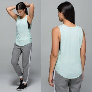 Lululemon Mint Light Luon Var-City Muscle Tank
